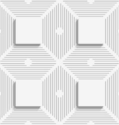 Geometrical pattern with white beveled squares on vector