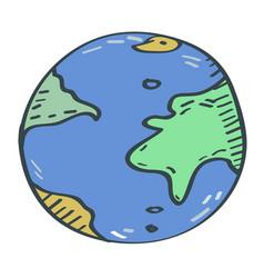 Globe cartoon vector