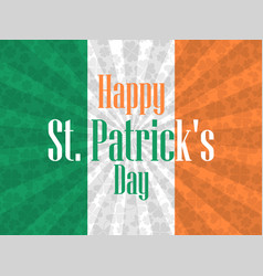 Happy st patricks day festive background with vector