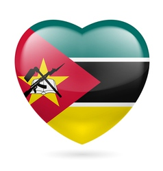 Heart icon of mozambique vector