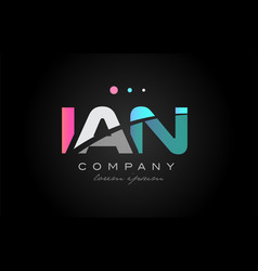 ian i a n three letter logo icon design vector image vector image