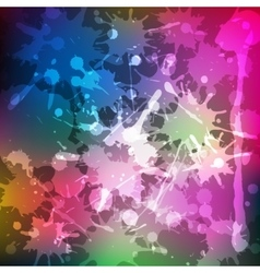 Ink splashes rainbow colored blot background vector