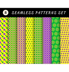 Mardi gras seamless patterns Carnival backgrounds vector image vector image