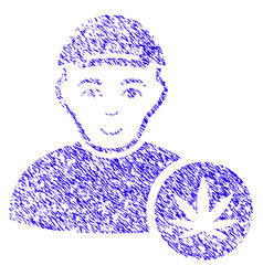 Marihuana dealer icon grunge watermark vector