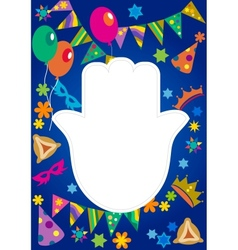 purim background jewish holiday vector image vector image