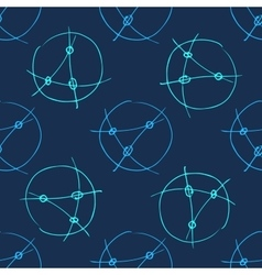 Seamless background with circles lines control vector image