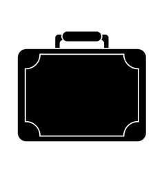 Silhouette travel suitcase modern style eqipment vector