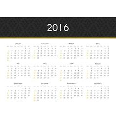 Simple modern calendar 2016 in english ready for vector