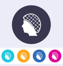 single hairnets must be worn icon vector image