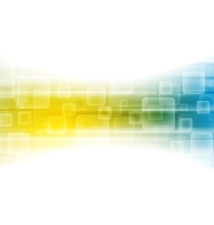 Yellow blue shiny tech background vector