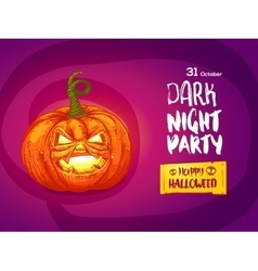 Jack pumpkin night party invitation vector