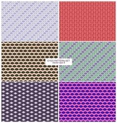 Eyes pattern backgrounds set vector
