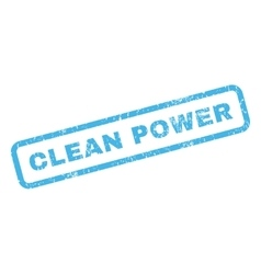 Clean power rubber stamp vector