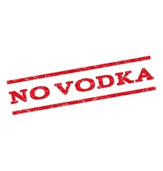 No vodka watermark stamp vector