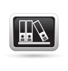 Folders on a shelf icon vector