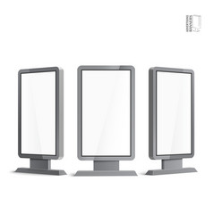 Realistic 3d outdoor lightbox advertising vector