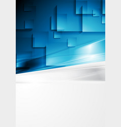 Contrast grey and blue abstract geometric vector
