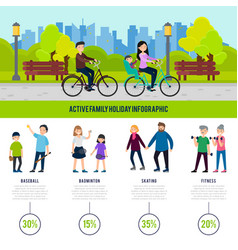 Healthy family infographic concept vector
