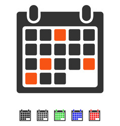 Calendar appointment flat icon vector