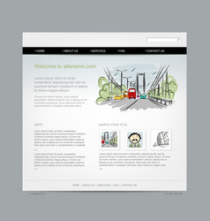 Website design template cityscape vector
