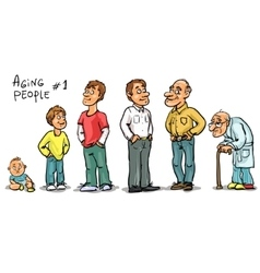 Aging people - set 1 vector