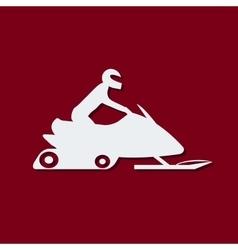 Snowmobile vector image