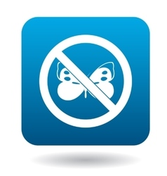 No butterfly icon simple style vector