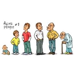 Aging people - set 1 vector image
