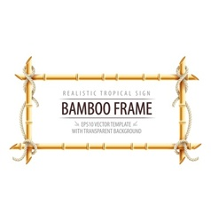 Bamboo frame template for tropical vector image vector image