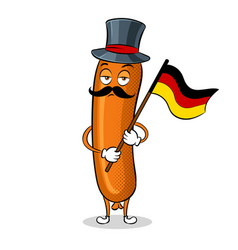 bavarian sausage pop art vector image vector image