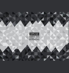 Black and gray abstract background lowpoly vector