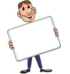 businessman with blank board vector image vector image