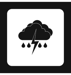 Clouds and thunderstorms icon simple style vector image vector image