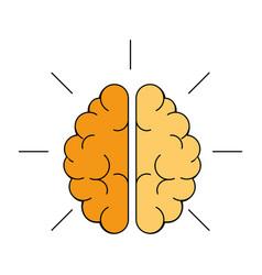 Colorful brain icon vector