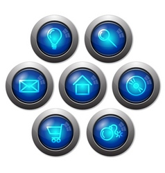 colorful glassy web buttons vector image vector image