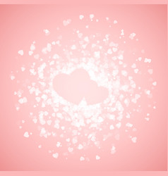 couple of hearts lined with confetti valentines vector image vector image