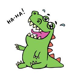 dinosaur laughs unbridled joy vector image vector image