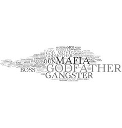 Godfather word cloud concept vector