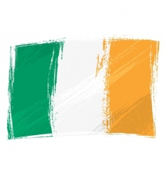 grunge Ireland flag vector image vector image