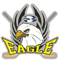Hockey eagle vector