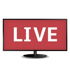 Live TV vector image vector image