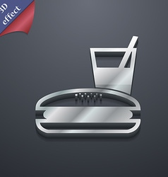 Lunch box icon symbol 3d style trendy modern vector