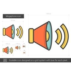 Megaphone line icon vector