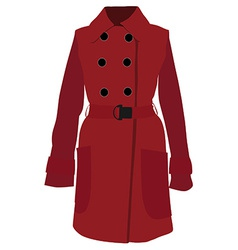 Red coat vector