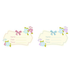 Set of babe shower card vector