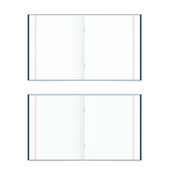 Set of open notebook in a cage and the line vector