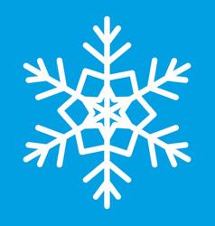 snowflake icon white vector image