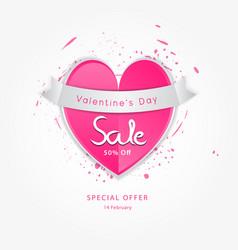 Valentine day sale icon vector