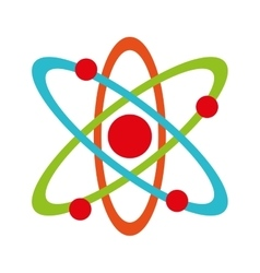 Molecule atom partile icon vector