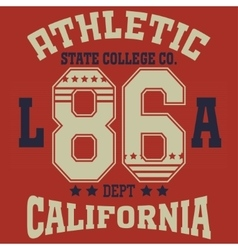 California college fashion design print for t vector